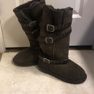 Emu Australia tall chocolate brown boots size 7